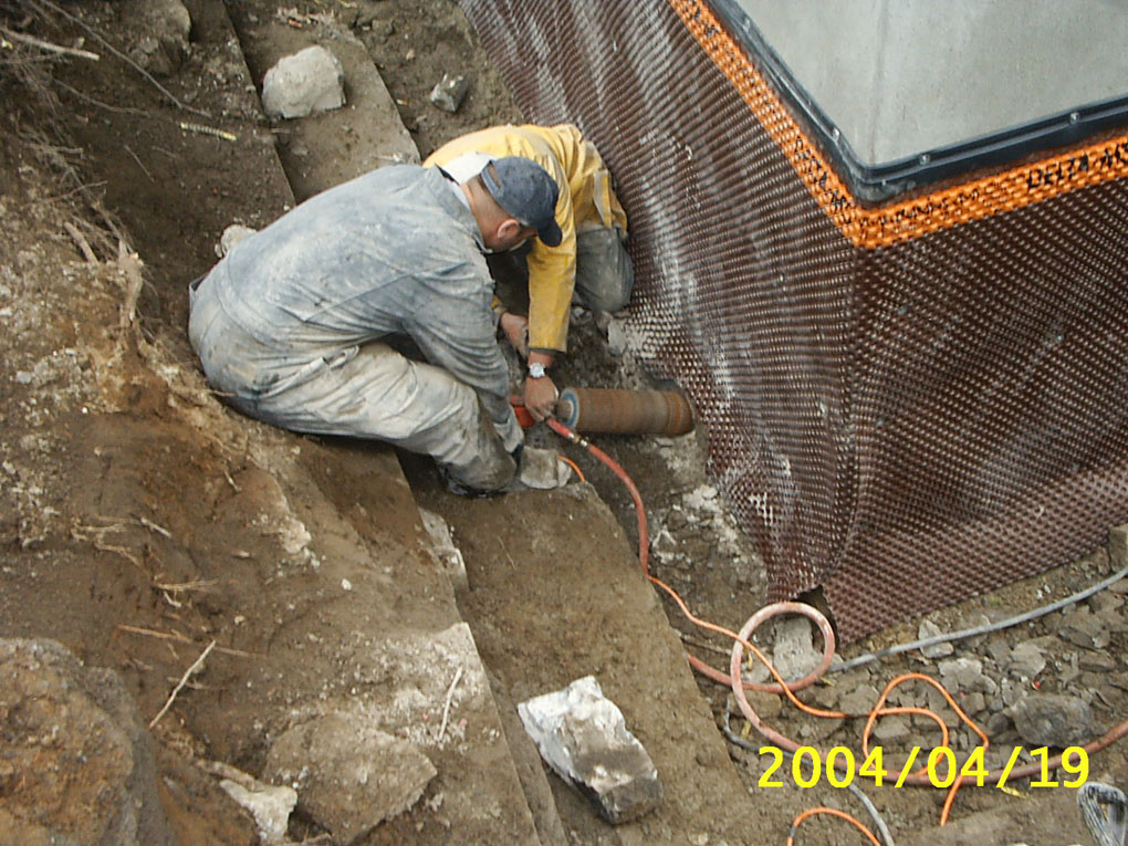 Bed Rock Coring - Foundation Repair