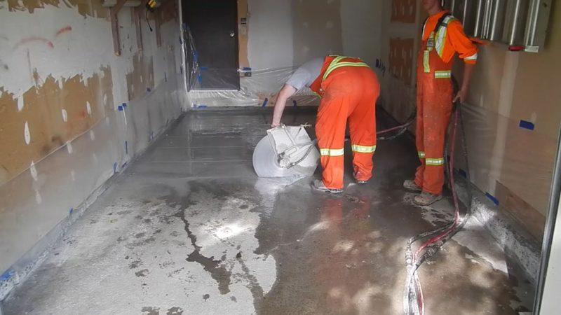 Cutting Removal Garage Floor
