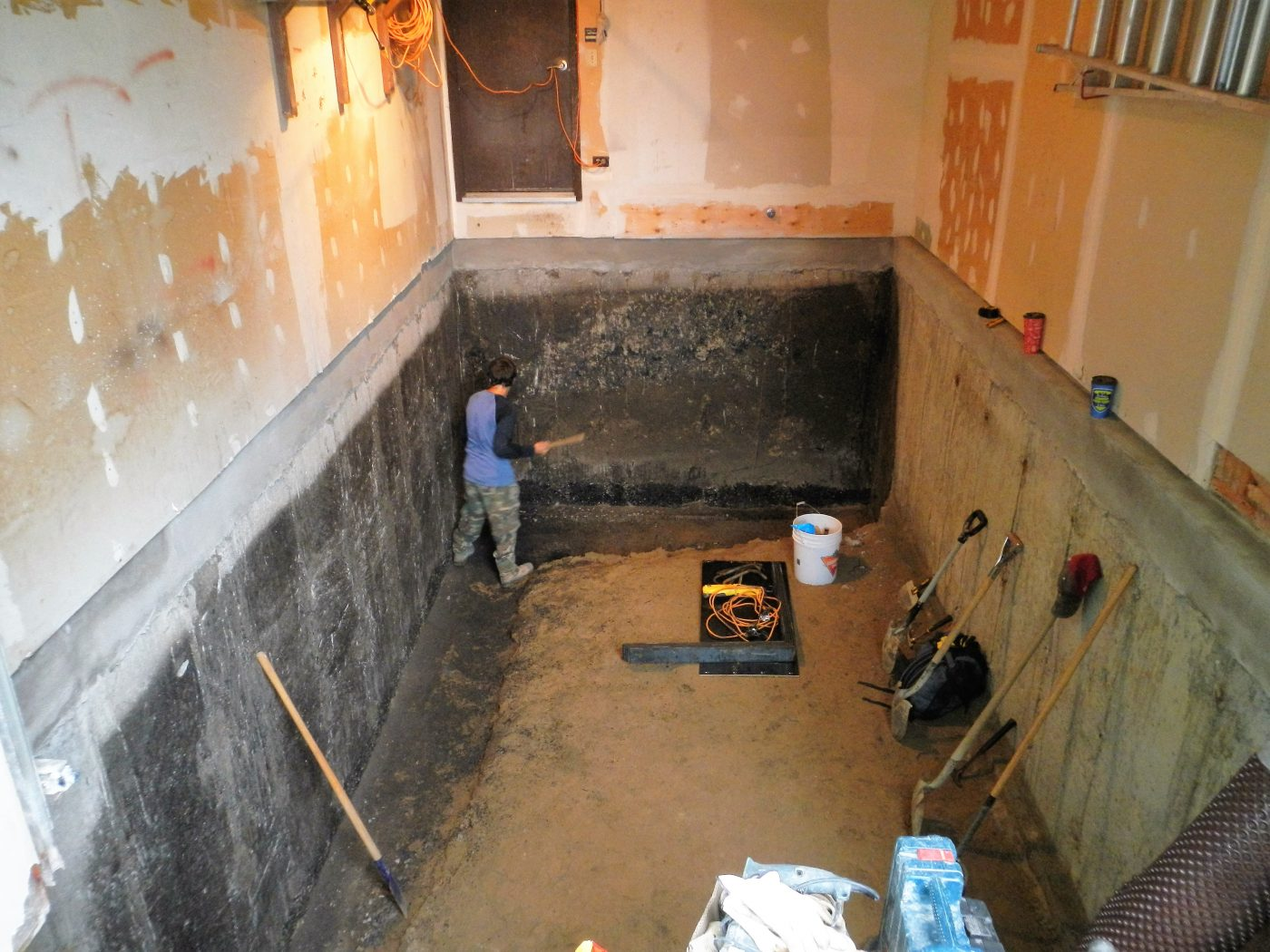 Garage Interior - Foundation Repair