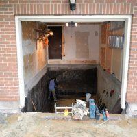 Garage Interior - Foundation Repair