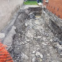 digging to replace foundation