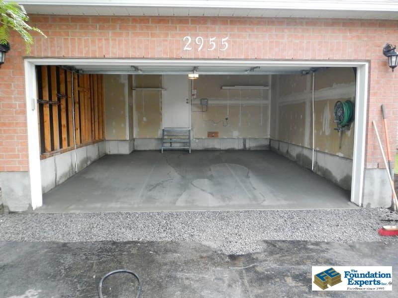 New concrete garage floor